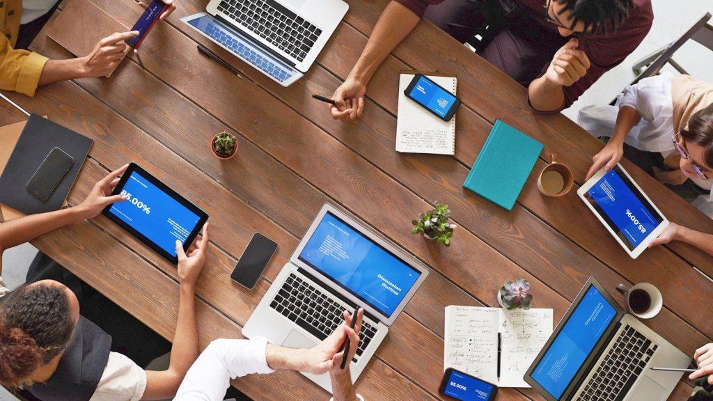 reuniões de negócio